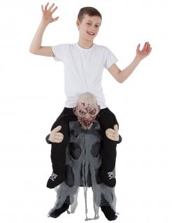 Zombiekostüm Carry Me für Kinder schwarz-grau