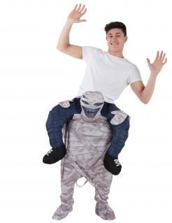 Mumienkostüm Carry Me für Erwachsene blau-schwarz-grau