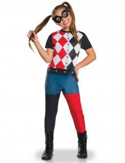Harley Qinn™-Kostüm für Kinder Lizenzartikel bunt
