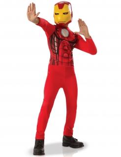 Iron-Man™-Kostüm für Kinder rot-gelb