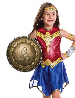 Wonder Woman™-Kinderschild goldfarben 30 cm