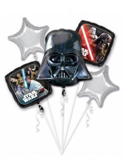 Star Wars™-Luftballon-Bouquet Halloween-Deko 5 Stück schwarz-silber