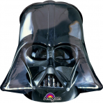 Alu-Ballon Darth Vader™ Star Wars™-Deko schwarz 25x27cm