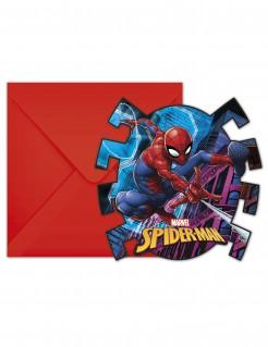 Spider-Man™ Einladungen 6 Stück bunt