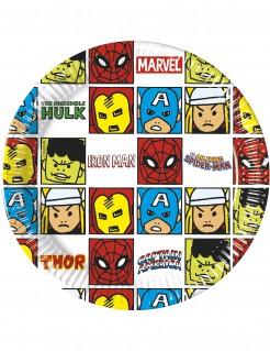 Avengers™-Pappteller Pop-Comic 8 Stück bunt 20 cm