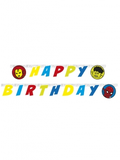 Avengers™ Pop-Comic Happy Birthday Girlande bunt 200 x 16 cm