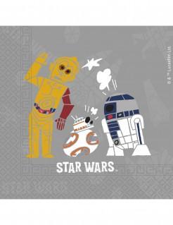 Star Wars™-Papierservietten Lizenzartikel 20 Stück grau-bunt 33x33cm