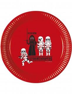 Star Wars™-Pappteller Lizenzartikel 8 Stück rot 23cm