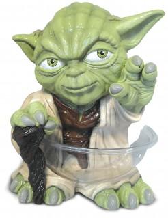 Meister Yoda™-Süßigkeitenspender Mini-Spender Star Wars™-Deko grün-beige 38cm