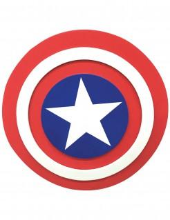 Captain-America™-Schild aus Schaumstoff rot-weiss-blau 30 cm