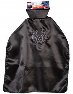 Black-Panther™-Cape für Kinder schwarz