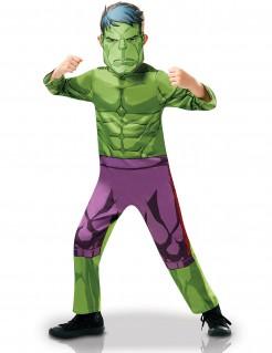 Hulk™-Kinderkostüm mit Maske grün-schwarz-violett