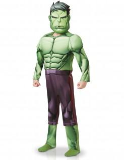 Luxuriöses Hulk™-Kinderkostüm grün-violett