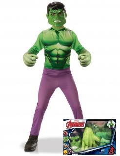 Hulk™-Kostümset für Kinder grün-violett