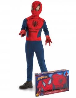 Spiderman™-Kostüm für Kinder im Koffer Halloweenkostüm blau-rot