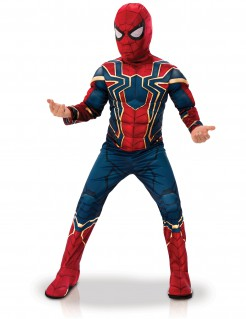 Iron Spider™-Kinderkostüm Halloweenkostüm rot-blau-gold
