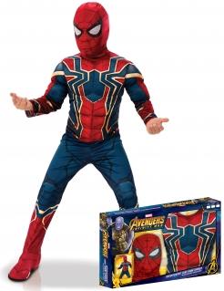 Iron Spider Infinity War™ Kostüm für Jungen blau-rot-goldfarben