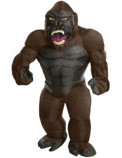 Aufblasbares King Kong™-Kostüm für Erwachsene braun