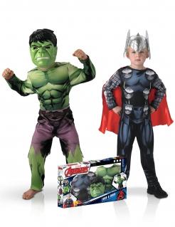 Marvel™-Paarkostüm für Kinder Thor™ und Hulk™ bunt