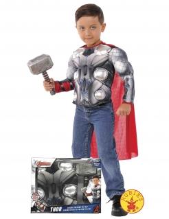 Thor™-Kostüm für Kinder im Koffer Halloweenkostüm grau-rot