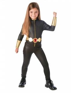Black Widow™-Kostüm für Mädchen Halloweenkostüm schwarz-gold
