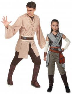 Star Wars™-Paarkostüm Jedi-Kostüm und Rey-Kinderkostüm braun-beige-grau