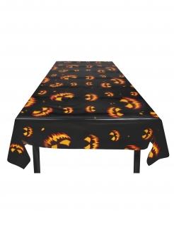 Kürbistischdecke für Halloween schwarz-orange 120x180 cm