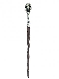 Voodoo-Zepter Halloween-Accessoire braun-weiss 45cm