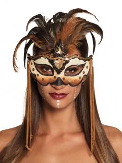Voodoo-Maske Mamba für Erwachsene Halloween bunt