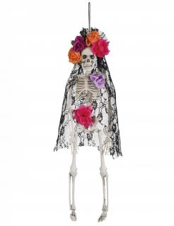 Hängefigur Dia de los Muertos Witwe bunt 40 cm