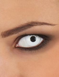 Gruselige Kontaktlinse für Erwachsene mit Dioptrien weiss