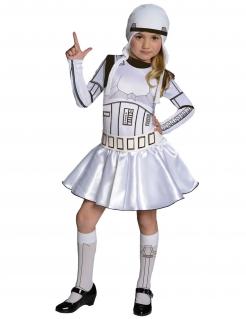 Stormtrooper™-Kostüm für Mädchen Star Wars™ weiss-schwarz