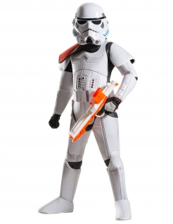 Stormtrooper™-Deluxekostüm für Kinder Star Wars™-Lizenzkostüm weiss-schwarz