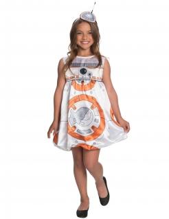 BB-8™-Mädchenkostüm Star Wars™ weiss-orange
