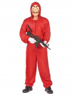 Bankräuber-Kostüm für Erwachsene rot