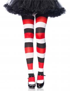 Harlekin-Strumpfhose Kostüm-Zubehör für Halloween bunt