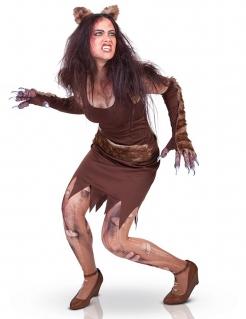 Werwolfkostüm für Damen Halloween braun