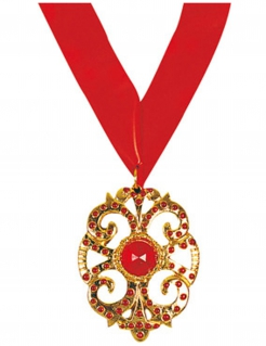 Vampir-Medaillon Halskette rot-gold
