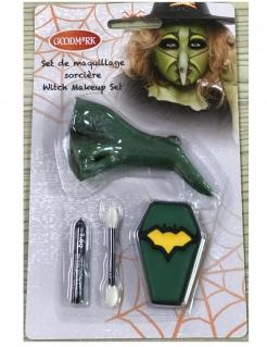 Kleine-Hexen-Schminkset Make-up für Kinder 4-teilig bunt