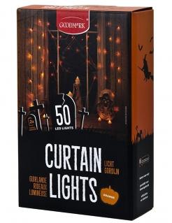 LED-Girlande für Halloween 50 LEDs orangefarben