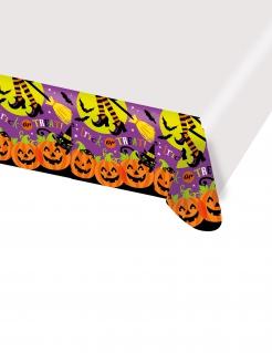 Kunststoff-Halloween-Tischdecke Trick or Treat bunt 137x260cm