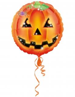 Kürbis-Aluminiumballon Happy-Halloween bunt 43 cm
