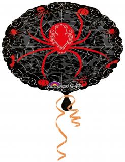 Spinnen-Folienballon schwarz-rot 43cm
