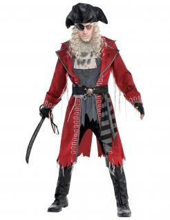 Zombie-Piratenkostüm für Herren grau-rot