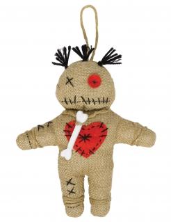 Voodoo-Puppe Hallowenn beige-schwarz-rot