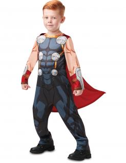 Thor™-Kostüm für Jungen Comicstil Halloween-Kostüm grau-rot