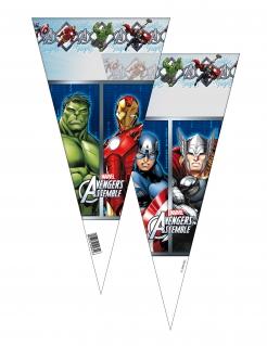 Avengers™-Partytüten 6 Stück bunt 20 x 40 cm