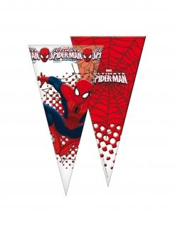 Spider-Man™ Süßigkeitentüten 6 Stück rot-weiss-blau 20 x 40 cm
