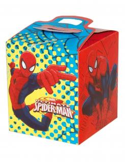 Spiderman™ lizenzierte Geschenkbox bunt 9,5 x 9,5 x 11 cm