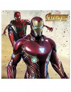 Avengers™-Papierservietten 20 Stück bunt 33 x 33 cm